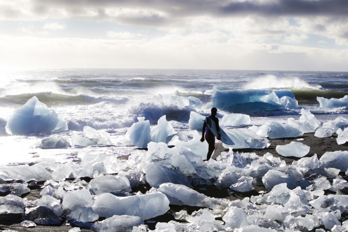 While filming Strange Rumblings for Globe in Iceland. Image: Struntz
