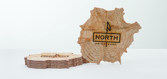 The Mt. Hood coasters, by North Drinkware. PHOTO: North Drinkware