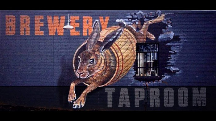 The mural on the southside wall of the Swamp Rabbit Brewery & Taproom. PHOTO: Swamp Rabbit Brewery