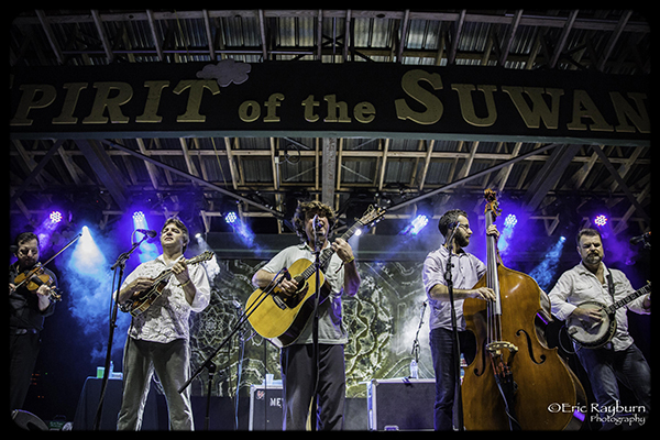 Keller Williams with The Traveling McCourys and Jeff Austin. PHOTO: Eric Rayburn