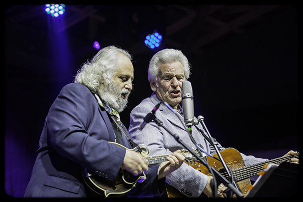 David 'Dawg' Grisman and Del McCoury. PHOTO: Eric Rayburn