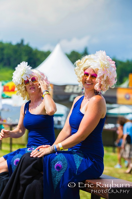 Stiltwalkers take a break during FloydFest. PHOTO: Eric Rayburn